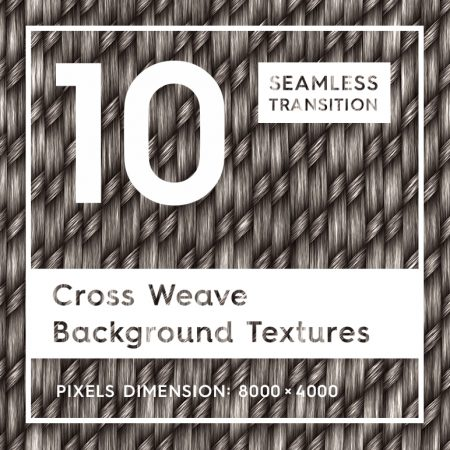 10 Cross Weave Background Textures