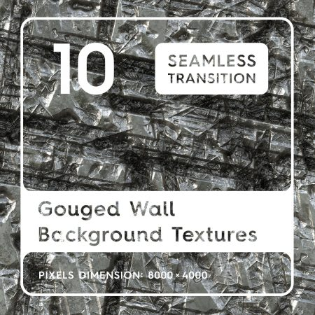 10 Seamless Gouged Wall Background Textures
