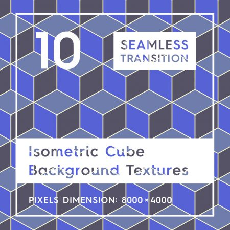 10 Seamless Isometric 3D Cubes Background Textures