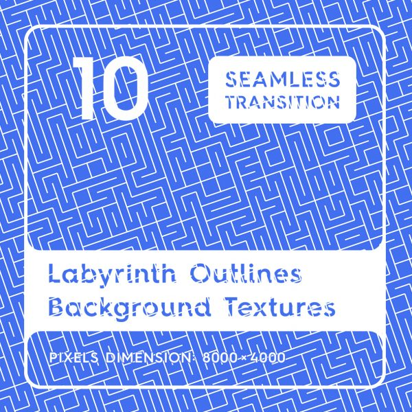 10 Labyrinth Outlines Background Textures
