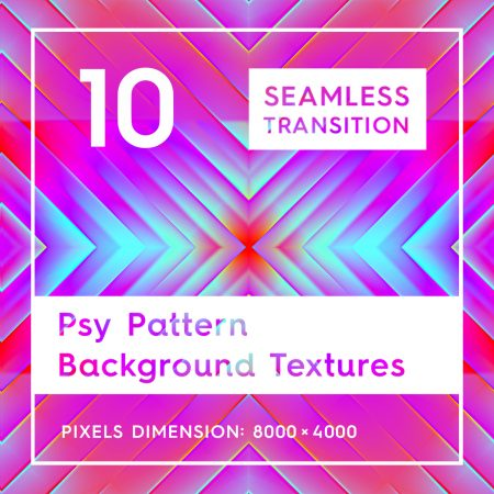 10 Seamless Psy Pattern Background Textures
