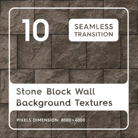 10 Stone Block Wall Background Textures