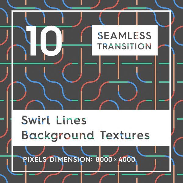 10 Swirl Lines Background Textures