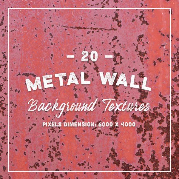 20 Original Metal Wall Background Textures