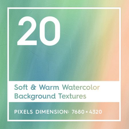 20 Soft & Warm Watercolor Backgrounds