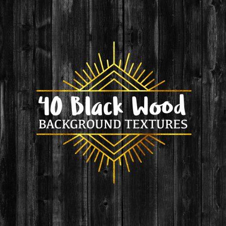 40 Black Wood Background Textures