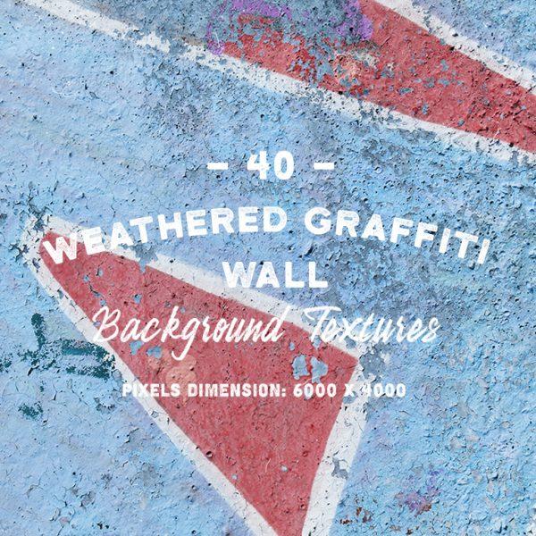 40 Weathered Graffiti Wall Textures