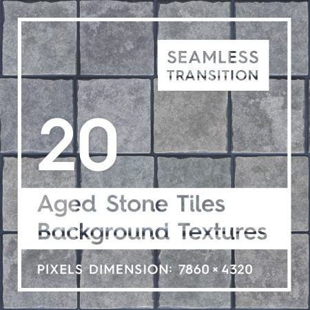 20 Aged Stone Tiles Background Textures