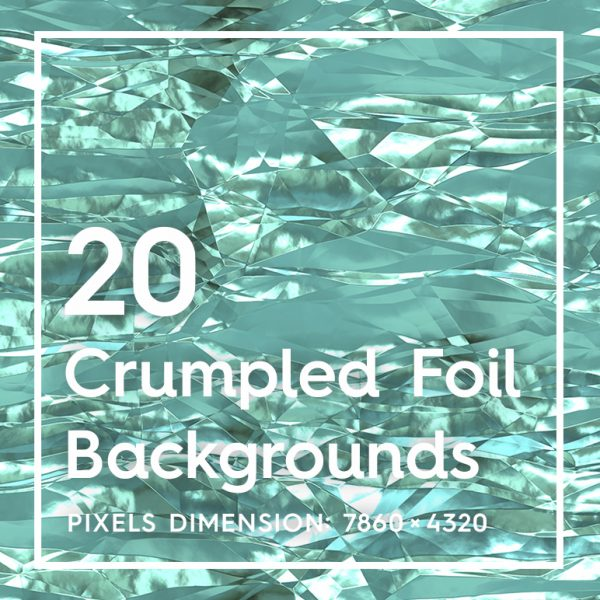 20 Crumpled Foil Backgrounds