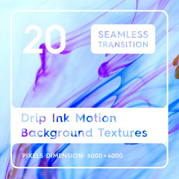 20 Drip Ink Motion Background Textures