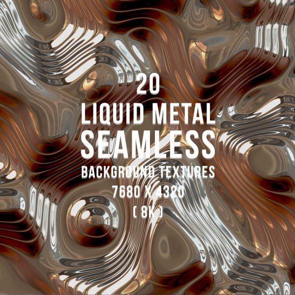 20 Liquid Metal Background