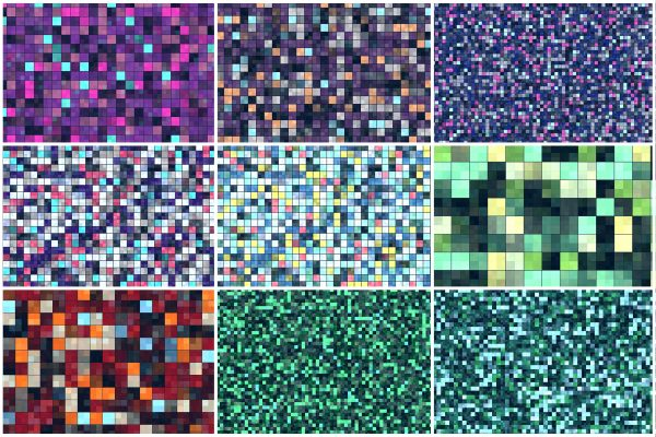 20 Tiling Colored Squares Preview Set