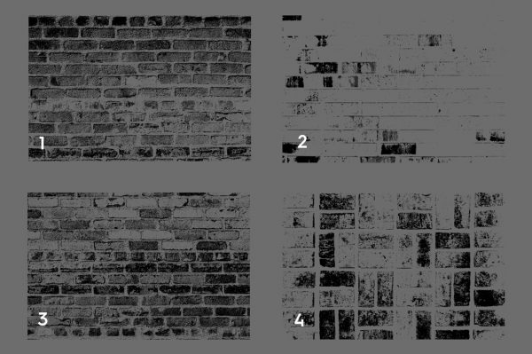 Bricks Wall Texture Overlays Preview Set 1