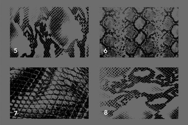 20 Snake Leather Texture Overlays Header 2
