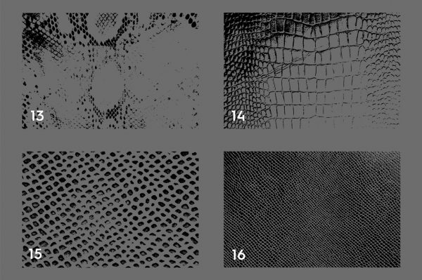 20 Snake Leather Texture Overlays Header 4