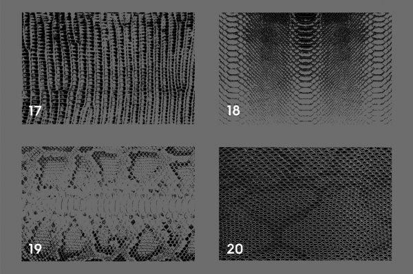 20 Snake Leather Texture Overlays Header 5