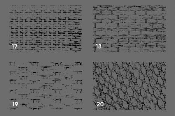 Wicker Rattan Texture Overlays Preview 5