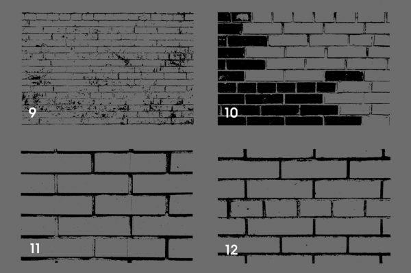 Bricks Wall Texture Overlays Preview Set 3