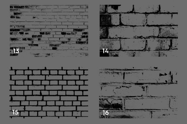 Bricks Wall Texture Overlays Preview Set 4