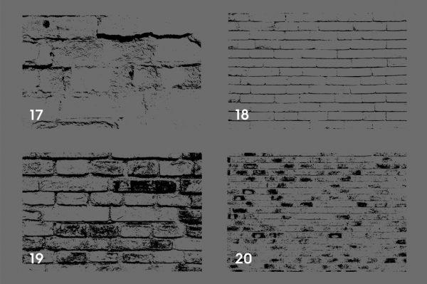 Bricks Wall Texture Overlays Preview Set 5