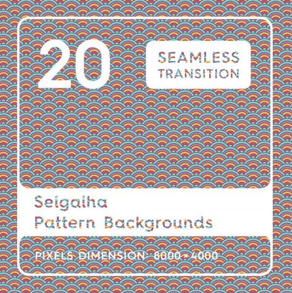 20 Seigaiha Backgrounds