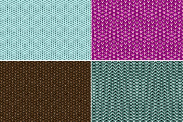 Seigaiha Patterns Preview Set 3
