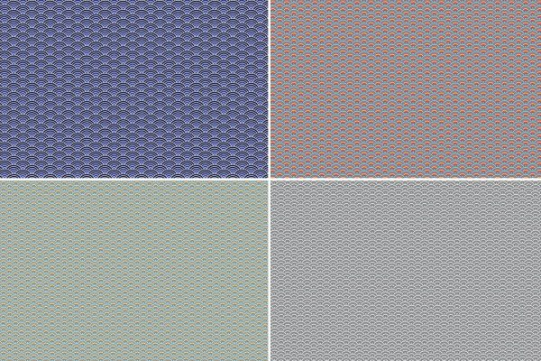 Seigaiha Patterns Preview Set 4