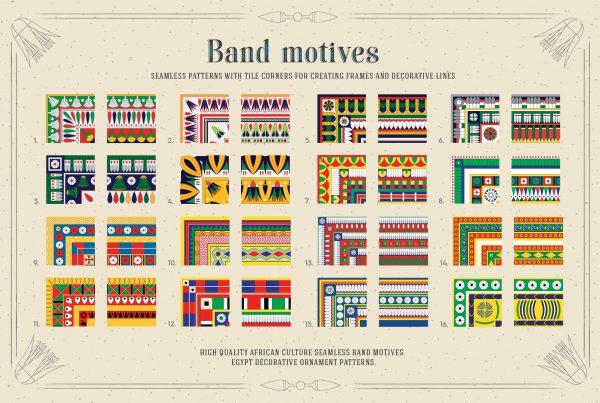 Egypt Patterns Band Motives for Illustrator & Photoshop