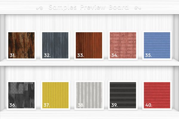 50 Corrugated Metal Background Textures Preview Set