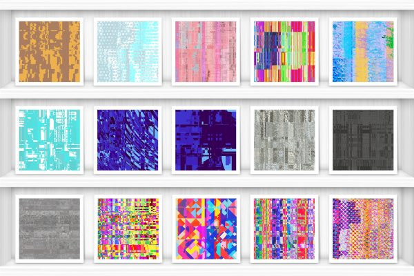 100 Distortion Background Textures Preview Set 1