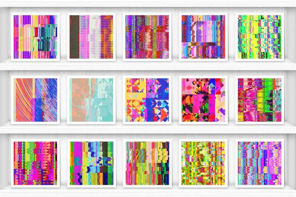 100 Distortion Background Textures Preview Set 2
