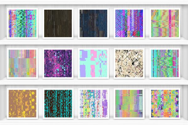 100 Distortion Background Textures Preview Set 3