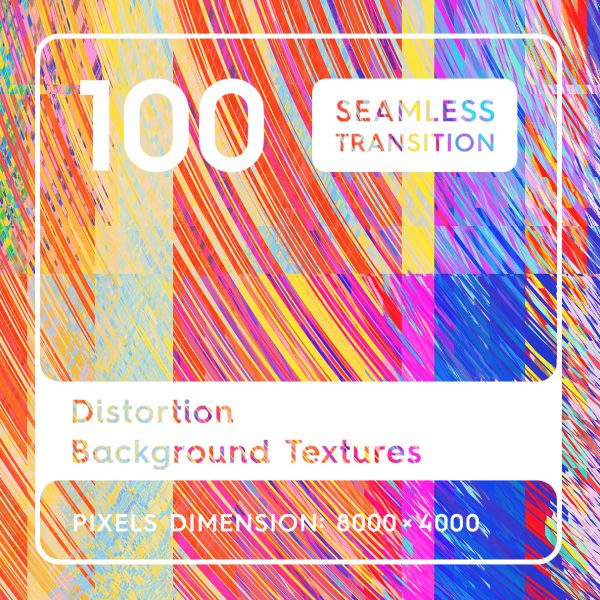 100 Distortion Background Textures Square Header