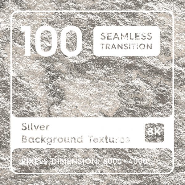 100 Silver Background Textures. Seamless Transition.
