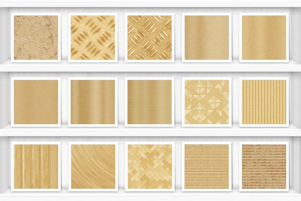 40 Brass Background Textures Samples Preview Shelves Set 1