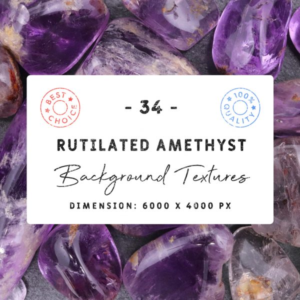 34 Rutilated Amethyst Background Textures Square Cover