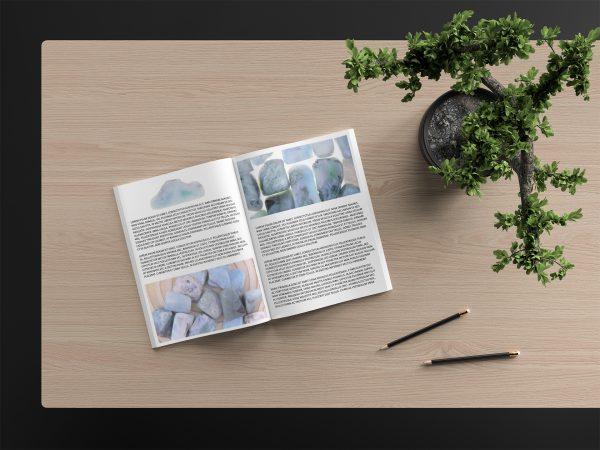 Larimar Background Textures Modern Magazine Article Illustration Preview