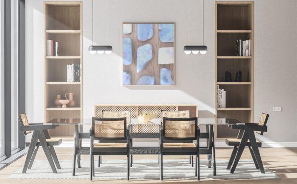 Kitchen & Dining Larimar Background Textures Modern Poster Preview