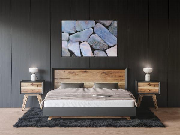 Dark Bedroom Larimar Background Textures Modern Poster Preview