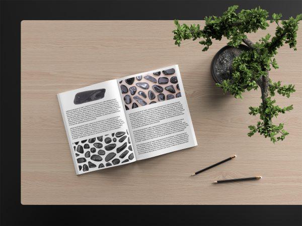 Postcard Black Tourmaline Background Textures Modern Poster Preview
