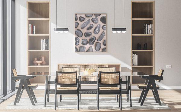Kitchen & Dining Black Tourmaline Background Textures Modern Poster Preview