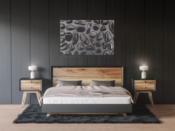 Bedroom Black Tourmaline Background Textures Modern Poster Preview