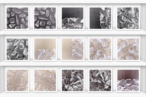 Clear Quartz Background Textures Showcase Shelves Samples Preview