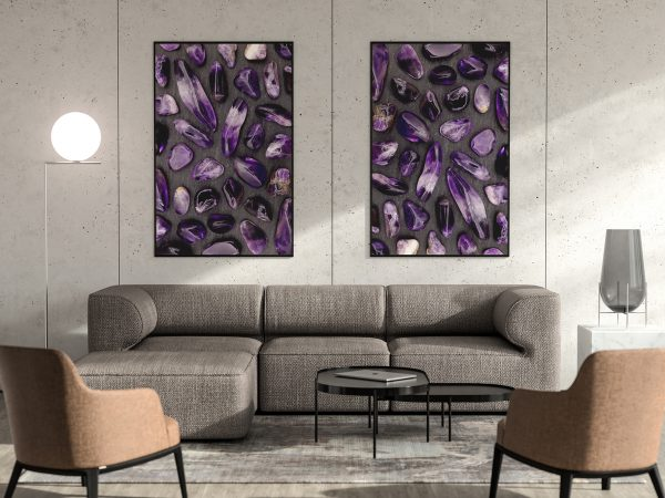 Amethyst Background Textures Interior Poster Preview