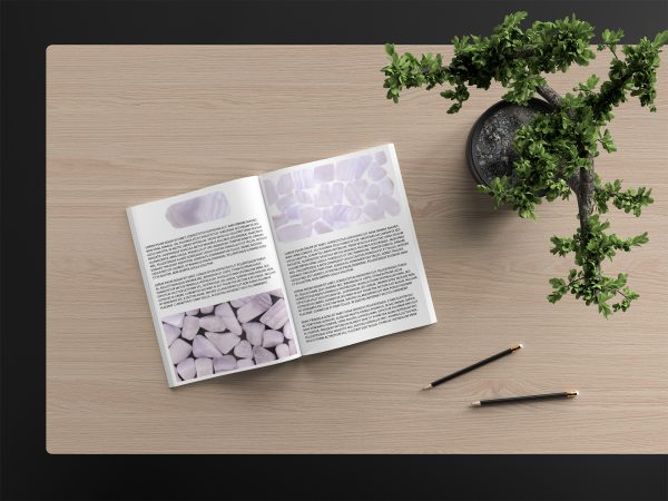 Blue Lace Agate Background Textures Magazine Article Preview