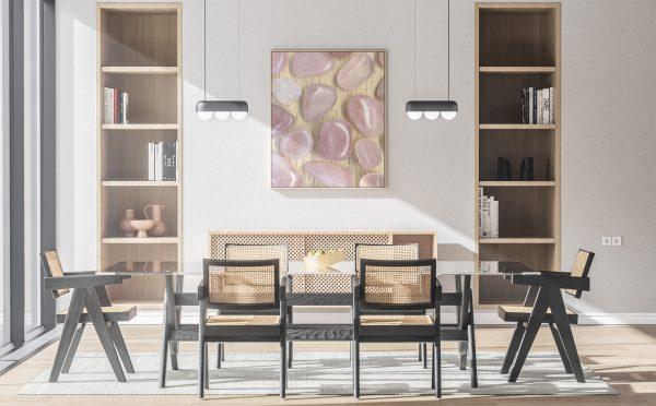 Kitchen Rose Quartz Background Textures Modern Poster Preview