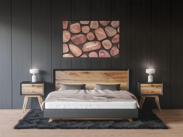 Bedroom Rose Quartz Background Textures Modern Poster Preview