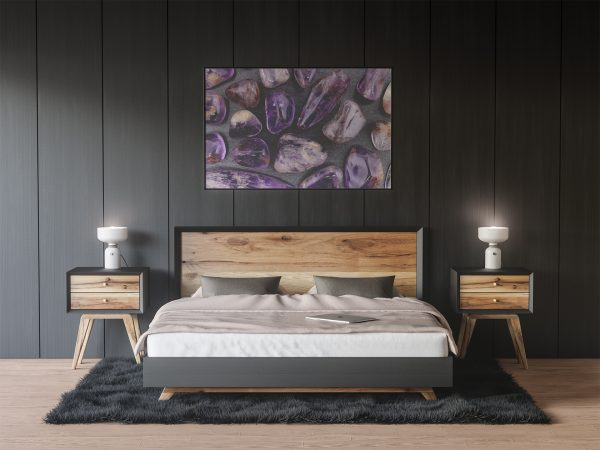 Bedroom Rutilated Amethyst Background Textures Modern Poster Preview