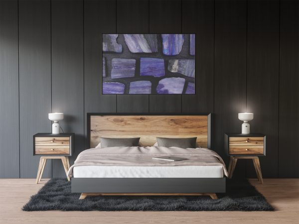Bedroom Kyanite Background Textures Modern Poster Preview