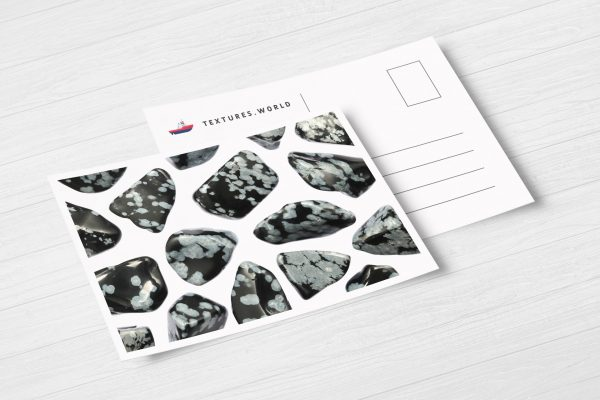 Snowflake Background Textures Postcard Preview